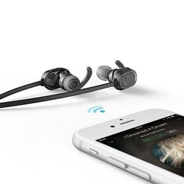 Anker SoundBuds Sport Kopfhörer Bluetooth 4.0 Halsband Ohrhörer Wireless, 8-Stunden-Spielzeit, IPX4-klassifiziert spritzwasserfest für Joggen, Workout, Fitness, Headphones mit Mikrofon für iPhone, Android, MP3 & Weitere (Schwarz) - 6