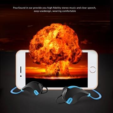 AUKEY Bluetooth Kopfhörer 4.1 Sport Kopfhörer In Ear Stereo Ohrhörer mit Mikrofon für iOS und Android Handys iPad Laptops Tablet, EP-B4 (Blau) - 4