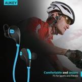AUKEY Bluetooth Kopfhörer 4.1 Sport Kopfhörer In Ear Stereo Ohrhörer mit Mikrofon für iOS und Android Handys iPad Laptops Tablet, EP-B4 (Blau) - 9