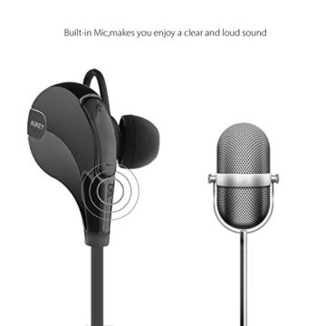 AUKEY Sport Bluetooth Kopfhörer 4.1 Stereo Headset Ohrhörer In Ear Kopfhörer mit Mikrofon für iOS und Android Handys iPhone Samsung HTC iPad - 4
