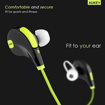 AUKEY Sport Bluetooth Kopfhörer 4.1 Stereo Ohrhörer In Ear Bluetooth Kopfhörer mit Mikrofon für iOS und Android Handys iPad Laptops Tablet - 4