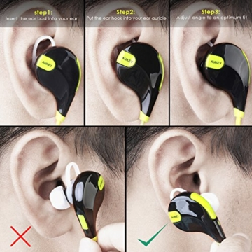 AUKEY Sport Bluetooth Kopfhörer 4.1 Stereo Ohrhörer In Ear Bluetooth Kopfhörer mit Mikrofon für iOS und Android Handys iPad Laptops Tablet - 6