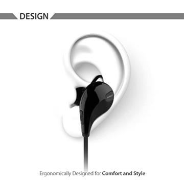 AUKEY Sport Bluetooth Kopfhörer 4.1 Stereo Headset Ohrhörer In Ear Kopfhörer mit Mikrofon für iOS und Android Handys iPhone Samsung HTC iPad - 2