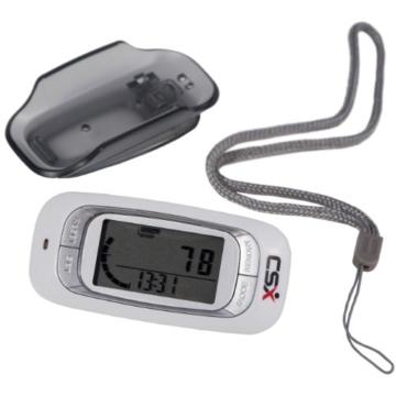 CSX - 3D Schrittzähler, Fitness Tracker mit Kalorienzähler, 7-Tage Speicher und Fortschrittsmonitor - 3