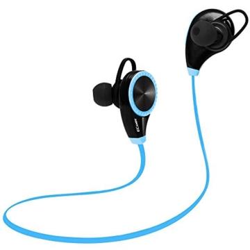 Ecandy Bluetooth 4.0 Wireless Stereo Sport / Laufen & Fitnessstudio / Sport Earbuds Kopfhörer Hands-Free Bluetooth-Headset mit Mikrofon für iPhone 6 5s 5c 4s 4, iPad 2 3 4 Neue iPad, iPod, Android, Samsung Galaxy, Smart Phones Bluetooth-Geräte. (blau) - 2