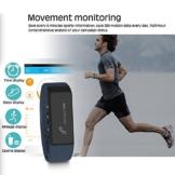 Jcotton I5+, I5 Plus Smartwatch IP67 wasserdichte intelligente Smart bracelet Bluetooth 4.0 Fitness Aktivität Tracker beobachten Sport Gesundheit Pedometer Armband Fügen Fitness Schlaf Monitor Sedentary Erinnerung Wristband Kompatibel mit Android IOS Smartphones (dunkelblau) - 6