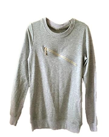 Minetom Damen Zipper Hausanzug Herzförmiger Sport Anzug Trainingsanzug Pants+ Sweatshirt Jogginganzug Damen Zipper Hausanzug Lang Hose T-Shirt Fitness Sportanzug Jogginganzug ( DE 34 ) - 3