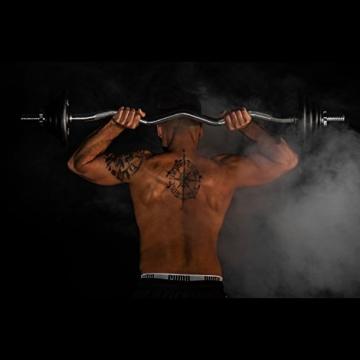 MOVIT® 23,5 kg Curlset, 1 SZ Curlstange gerendelt und verchromt mit Sternverschlüssen + 8 Gewichtsscheiben Hantelscheiben Curl Set Hantelset - 2