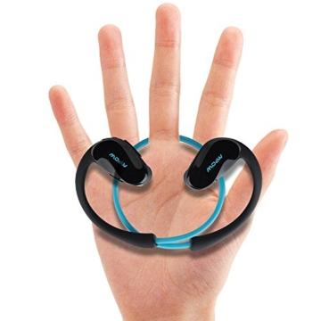 Mpow Cheetah Bluetooth 4.1 Kopfhörer Wireless Sport Stereo In-Ear-Kopfhörer mit AptX Technologie und Mikrofon der Freisprechfunktion für iPhone SE 6 6S 6 Plus 6S Plus 5S 5 5C 4S 4, Samsung Galaxy S7 S7 edge S6 S6 Edge S5 S4 Mini, HTC M9 M8, Sony Z5 Z4 Z3 Compact, MP3 Players usw. -Blau - 3