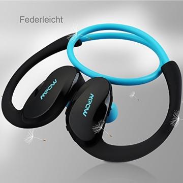Mpow Cheetah Bluetooth 4.1 Kopfhörer Wireless Sport Stereo In-Ear-Kopfhörer mit AptX Technologie und Mikrofon der Freisprechfunktion für iPhone SE 6 6S 6 Plus 6S Plus 5S 5 5C 4S 4, Samsung Galaxy S7 S7 edge S6 S6 Edge S5 S4 Mini, HTC M9 M8, Sony Z5 Z4 Z3 Compact, MP3 Players usw. -Blau - 6