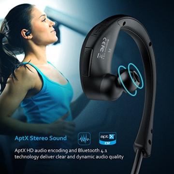 Mpow Cheetah Bluetooth 4.1 Wireless Sport Stereo Kopfhörer mit AptX Technologie(Schwarz) - 4